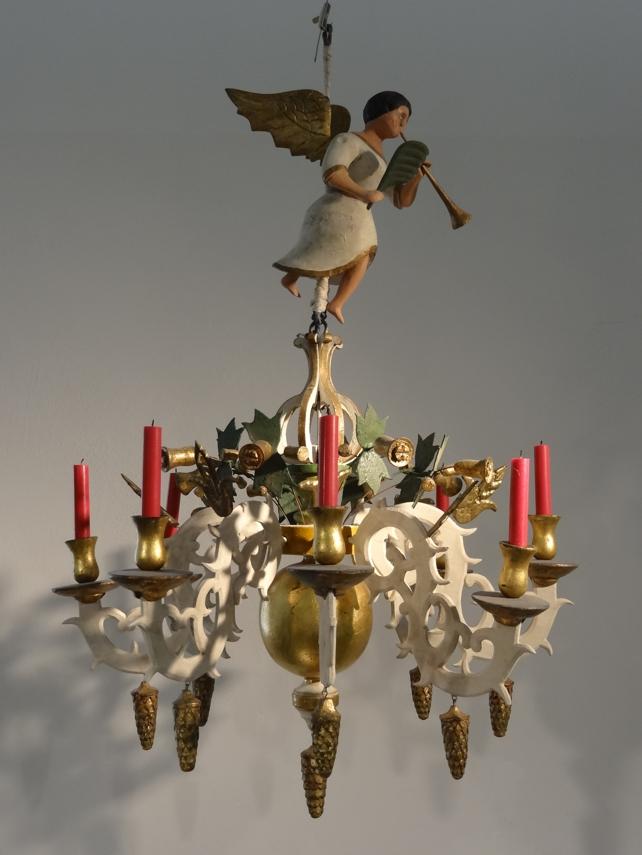 Zschopauer Leuchter mit Engelsfigur